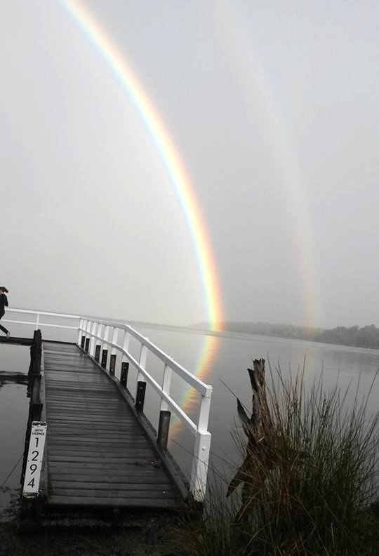 Anette's photo of the rainbow at Warrungup Spring